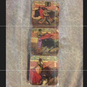 Vintage BN in box Bullfighting coasters from Spain